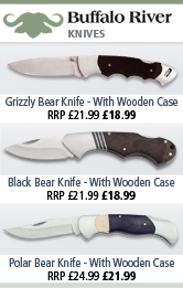 Buffalo River grizzlier Bear, Black Bear and Polar Bear Knives