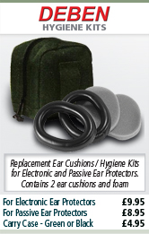 Deben Replacement Ear Cushions / Hygiene Kit for Electronic and Passive Ear Protectors