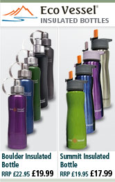 Eco Vessel Boulder Insulated Bottle and Summit Insulated Bottle