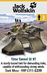 jack Wolfskin Time Tunnel III RT Tunnel Tent - Dark Moss