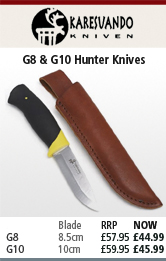 Karesuando G8 and G10 Hunter Knives