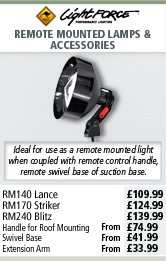 Lightforce Remote Mounted Lamps