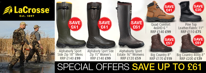 LaCrosse Wellingtons and Walking Boots Special Offer