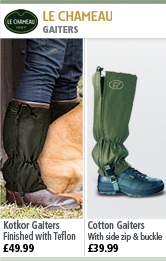 Le Chameau Kotkor Gaiters and Cotton Gaiters