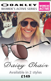 Oakley Daisy Chain Women's Sunglasses - Polished Black(Frame)/00 Grey Polarized(Lens)