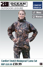 Ocean Rainwear Comfort Stretch Waterproof Camo Set - Camo