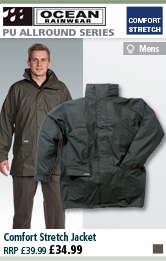 Ocean Rainwear Comfort Stretch Jacket - Olive