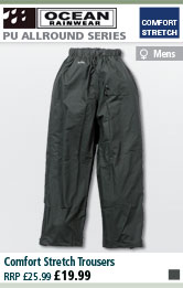 Ocean Rainwear Comfort Stretch Trousers - Olive