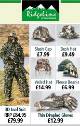 Ridgeline 3D Leaf Suit, headware and Thin Dimpled Gloves
