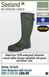 Seeland Estate 18 Inch 5mm Neoprene Wellington Boots with Gusset
