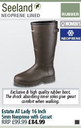 Estate AT Lady 16 Inch 5mm Neoprene Wellington Boots with Gusset - Brown