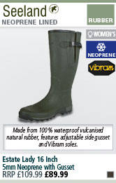 Seeland Estate Lady 16 Inch 5mm Neoprene Wellington Boots with Gusset