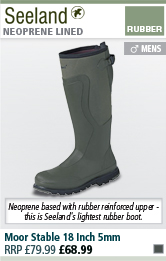 Seeland Moor Stable 18 Inch 5mm Wellingtons - Dark Green