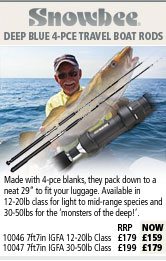 Snowbee Deep Blue 4 Piece Travel Boat Rods