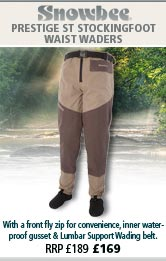 Snowbee Prestige ST Stockingfoot Waist Waders