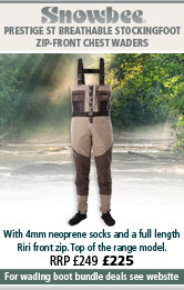 Snowbee Prestige Zip-Front ST Breathable Stockingfoot Chest Waders - 2-Tone Tan