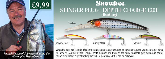 Snowbee Stinger Plug - Depth-Charge 120F (Floating)
