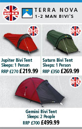 Terra Nova 1-2 Man Bivi's - Made in the UK
