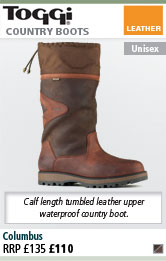 Toggi Columbus Leather and Cordura Country Boots - Dark Copper