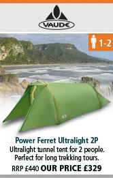 Vaude Power Ferret Ultralight 2P Tent - Green