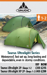 Vaude Taurus Ultralight 2P and Taurus Ultralight XP 2P