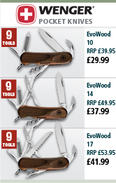 Wenger EvoWood Pocket Knives