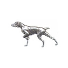 A R Brown Pointer Pewter Pin Badge
