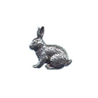 A R Brown Rabbit Pewter Pin Badge