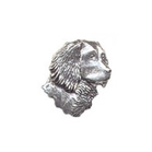 A R Brown Spaniel Pewter Pin Badge