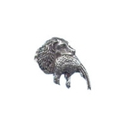A R Brown Spaniel with Pheasant Head Pewter Pin Badge