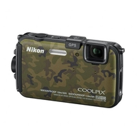 Nikon Coolpix AW100 16MP Camera - Camo