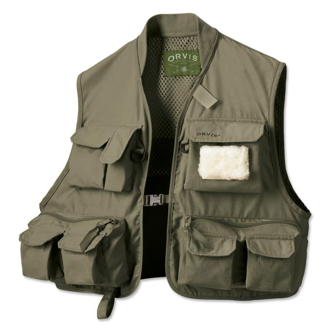 Orvis clearwater fly fishing vest olive for Orvis fishing vest