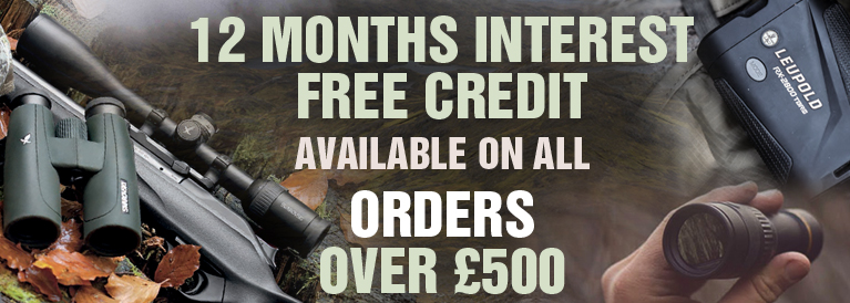 12 Months Interest FREE Credit on all orders £500
