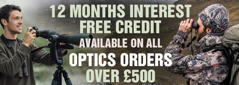 12 Months Interest FREE Credit on all optics orders over £500