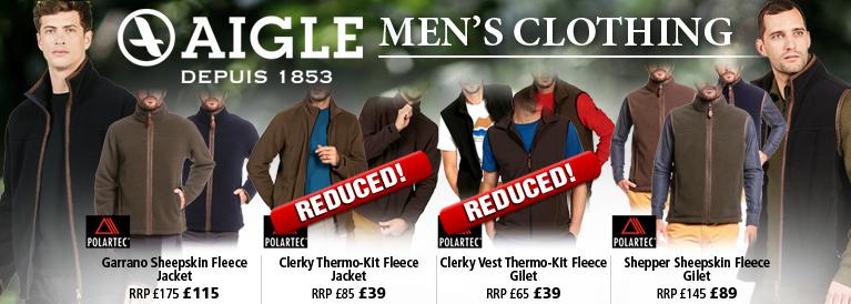 Aigle Jackets, Fleeces and Waistcoats