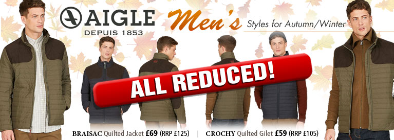 Aigle Braisac Quilted Jacket and Crochy Quilted Gillet
