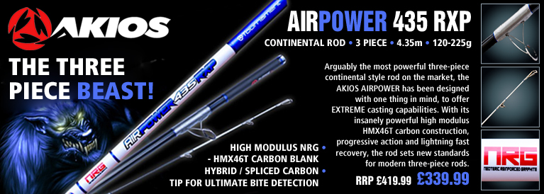 Akios AirPower RXP 435 Continental Rod - 4.35m - 120-225g