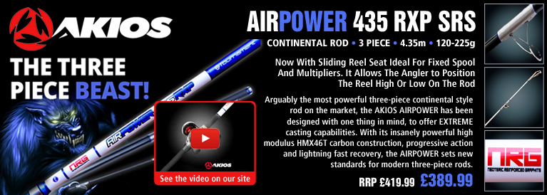 Akios AirPower RXP SRS 435 Continental Rod - 4.35m - 120-225g