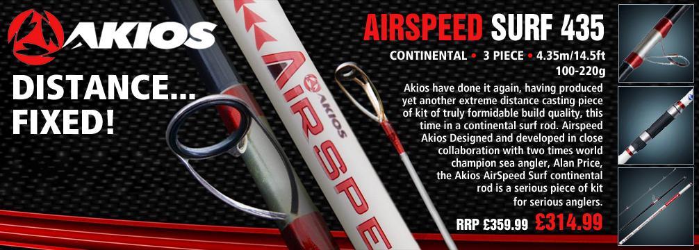 Akios Airspeed Surf 435 Continental Rod