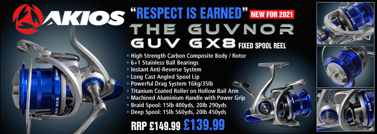 Akios The Guvnor GUV GX8 Fixed Spool Reel