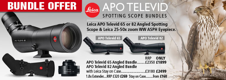 Leica APO Televid 65 and 82 Angled Spotting Scopes Bundle Offers