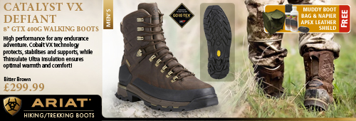 Ariat Catalyst VX Defiant 8 Inch GTX 400g Walking Boots