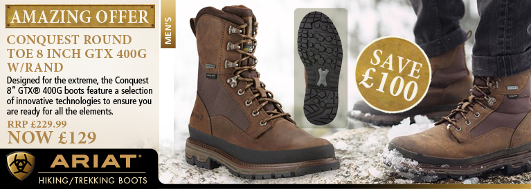 b073e919700 Ariat Conquest Round Toe 8 Inch GTX 400g w Rand Walking Boot (Men s)