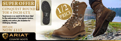 Ariat Conquest Round Toe 8 Inch GTX Walking Boot (Men's) - Pebbled Brown with Camo