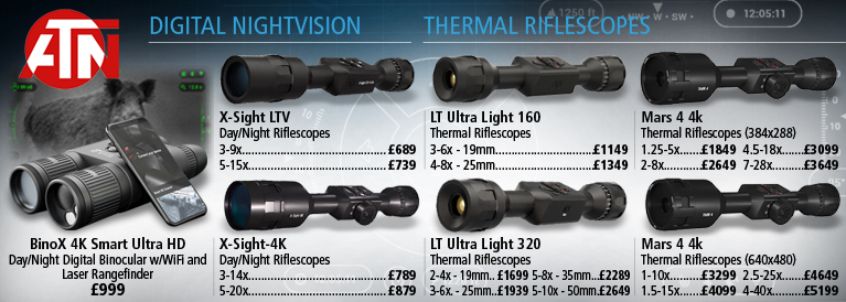 ATN Digital Nightvision and Thermal Riflescopes