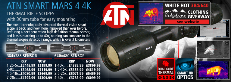 ATN Smart MARS 4 4K Thermal Rifle Scopes
