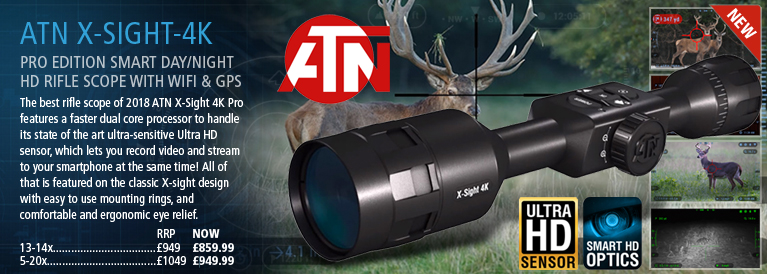 ATN X-Sight-4K Pro Edition Smart Day/Night HD Rifle Scope with WiFi & GPS