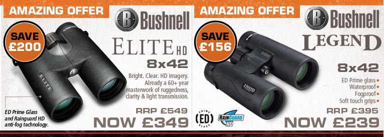Bushnell Elite HD 8x42 and Bushnell Legend Ultra HD Binoculars