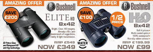 Bushnell Elite HD and H20 Amazing Offer
