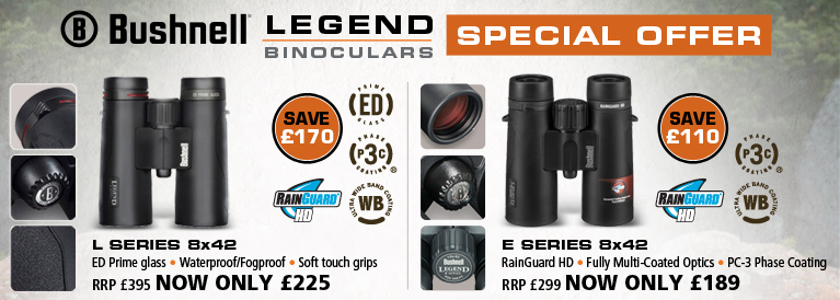 Bushnell Legen L 8x42 and Legend E 8x42 Binoculars